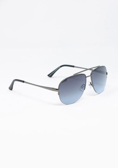 Men's Aviator Sunglasses, GUN METAL, hi-res