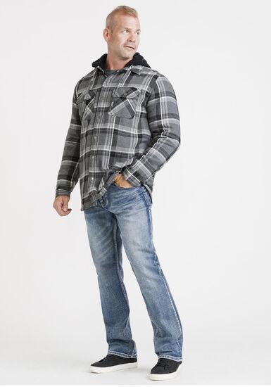 Men's Fleece Lined Jacket, LIGHT GREY, hi-res