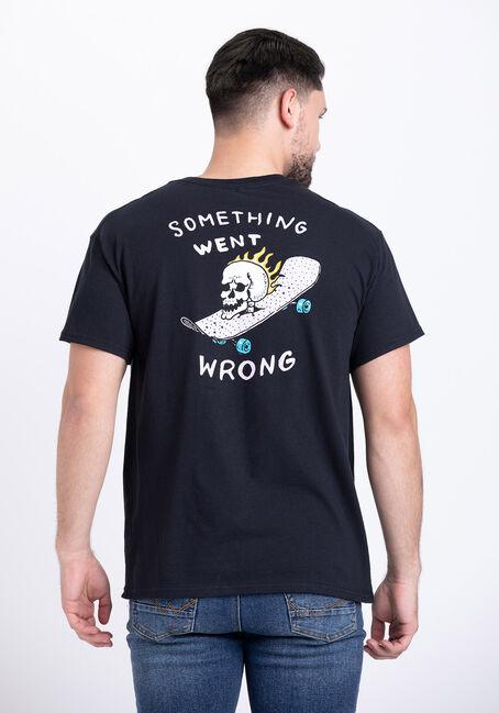 Men's Something Went Wrong Tee, BLACK, hi-res