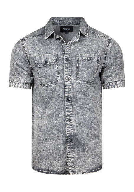 Men's Acid Wash Denim Shirt