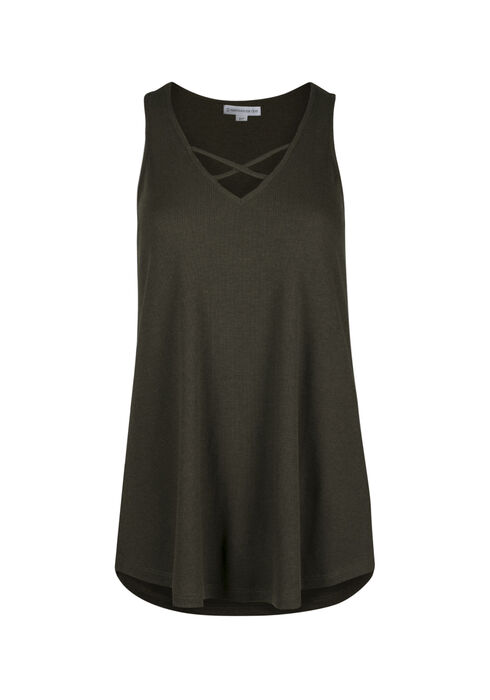 Ladies' Cage Neck Tank, MOSS STONE, hi-res
