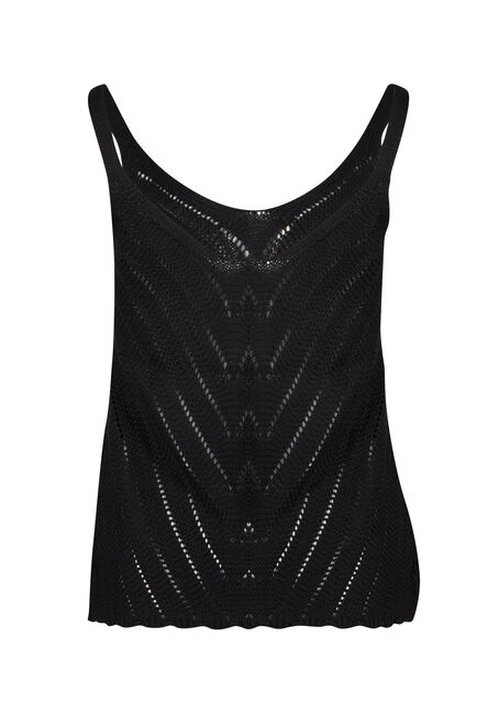 Women's Sweater Tank, BLACK, hi-res