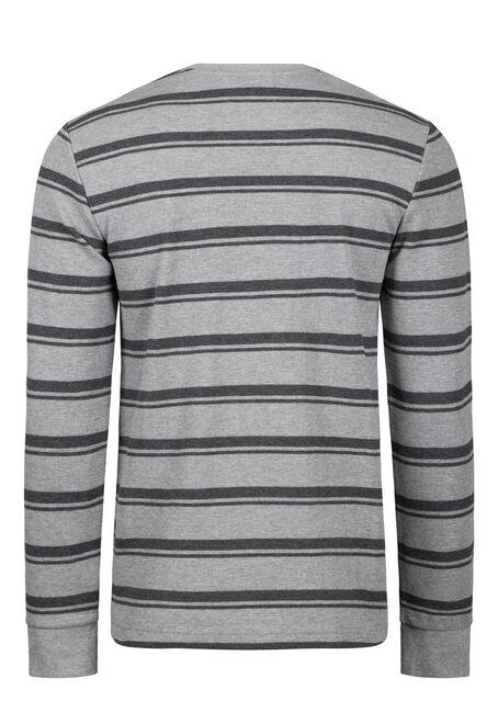 Men's Striped Everyday Waflle Tee, LIGHT GREY, hi-res