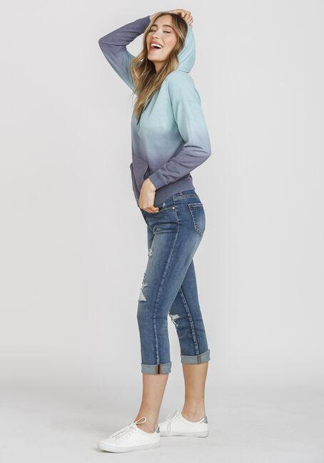 Women's Ombre Hoodie, BLUE, hi-res