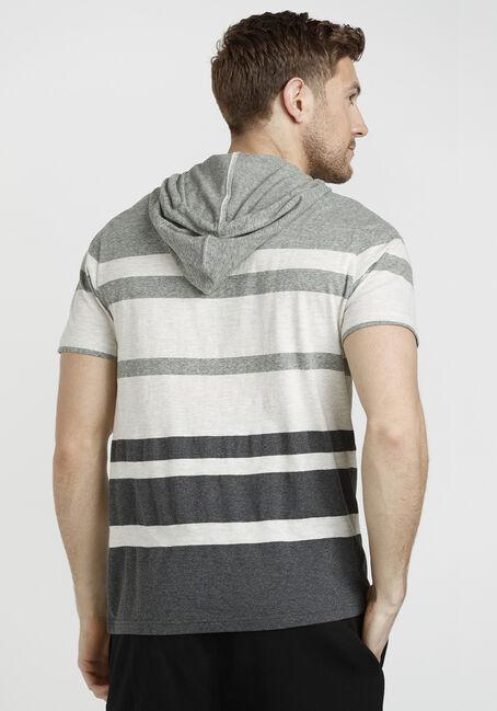 Men's Short Sleeve Hooded Tee, OLIVE, hi-res