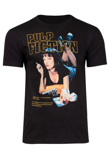Men's Pulp Fiction Tee, BLACK, hi-res