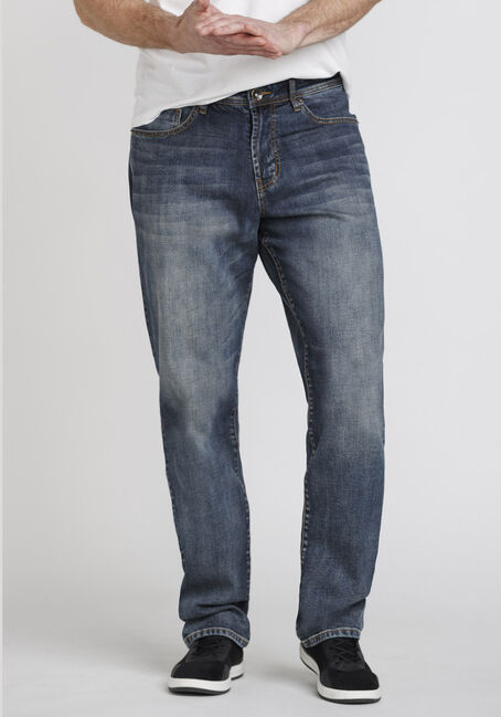 Men's Medium Wash Relaxed Straight Jeans
