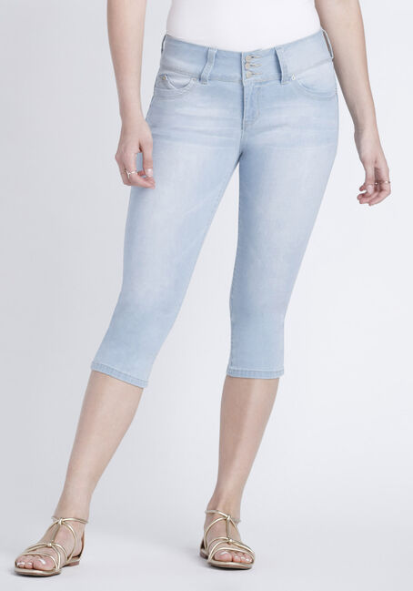 Women's Bleach Wash Capri