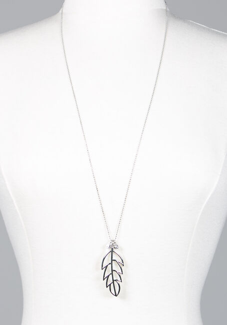 Women's Long Leaf Necklace