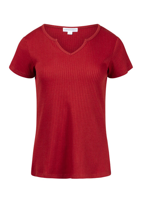 Women's Ribbed Notch Neck Tee