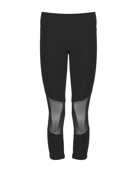 Women's Mesh Insert Capri Legging