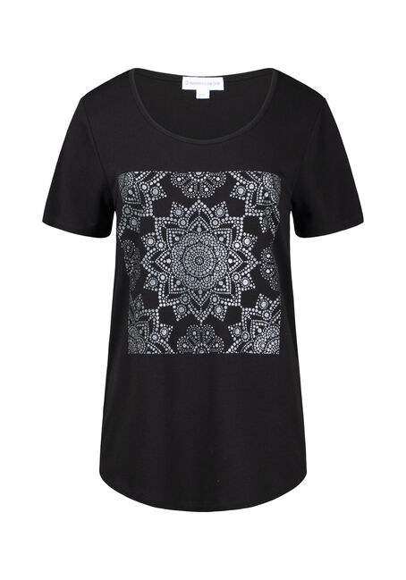 Women's Shimmer Mandala Scoop Neck Tee
