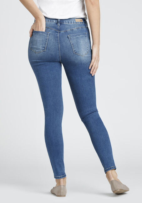 Ladies' No Muffin Top Skinny Jean, MEDIUM WASH, hi-res