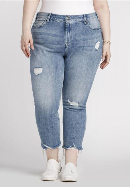 Women's Plus Size Straight Crop Jeans