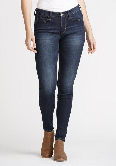 Women's Skinny Jeans, DARK WASH, hi-res