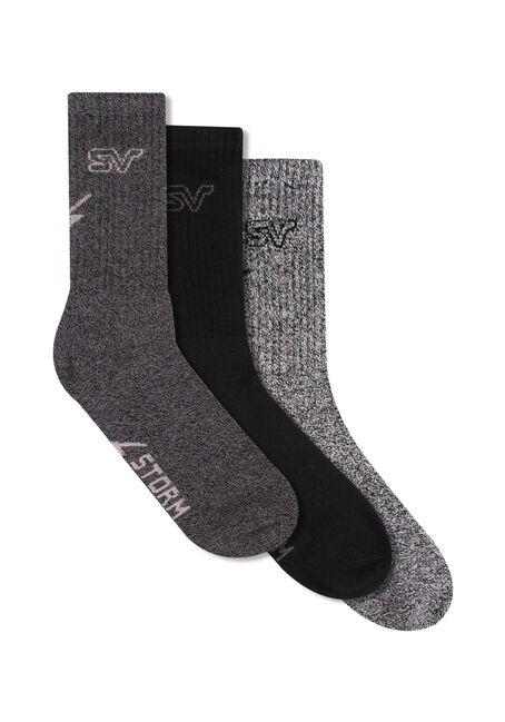 Men's 3 Pair Storm Valley Socks