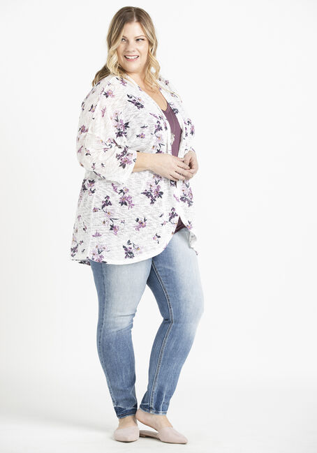 Women's Floral Cardigan, MULTI, hi-res