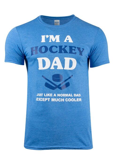 Men's Hockey Dad Tee, HEATHER ROYAL, hi-res