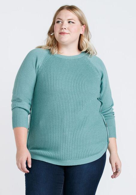 Women's Side Button Sweater