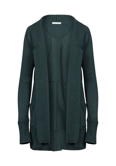 Womens' Marled Open Cardigan, FOREST MARL, hi-res