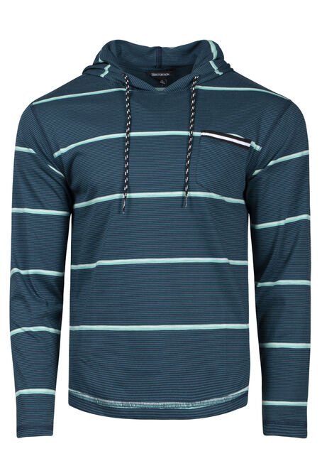 Men's Mini Stripe Hooded Tee