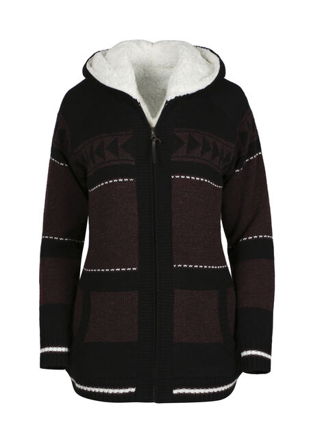Ladies' Nordic Sherpa Lined Cardigan