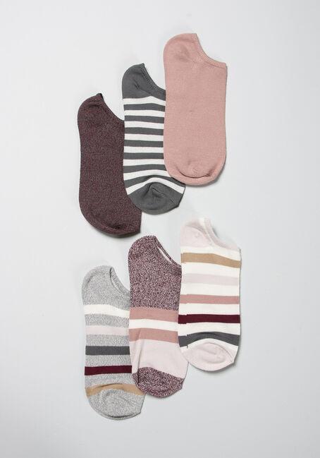 Women's 6 Pair Stripe Socks