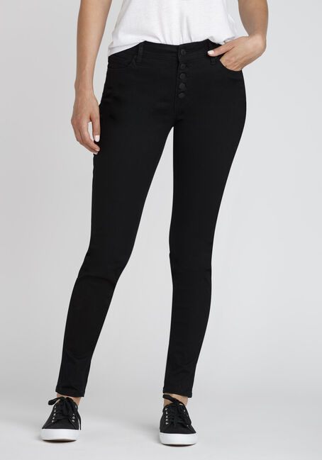 Ladies' Button Fly Skinny Jeans