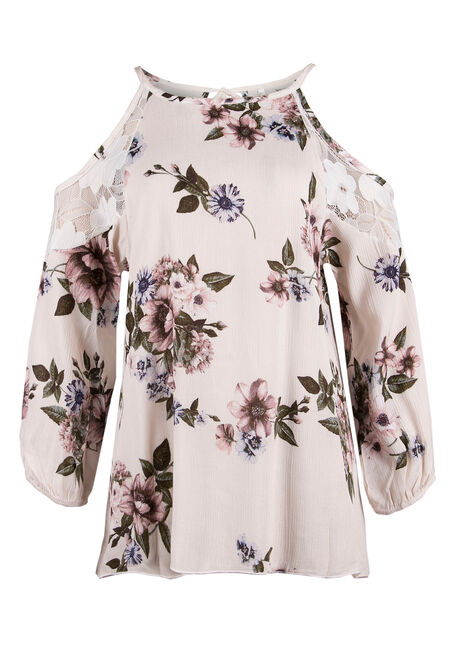 Ladies' Floral Cold Shoulder Top