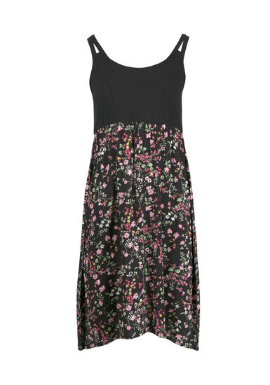 Women's Ditsy Floral Tank Dress, BLACK, hi-res