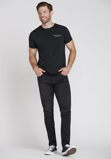 Men's Nosey Tee, BLACK, hi-res