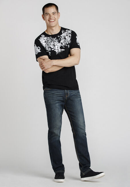 Men's Medusa Flocked Graphic Tee, BLACK, hi-res