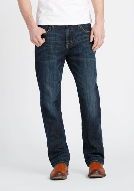 Men's Dark Wash Slim Straight Jeans