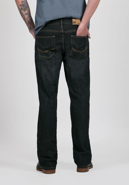 Men's Dark Wash Classic Straight Jeans, DARK WASH, hi-res