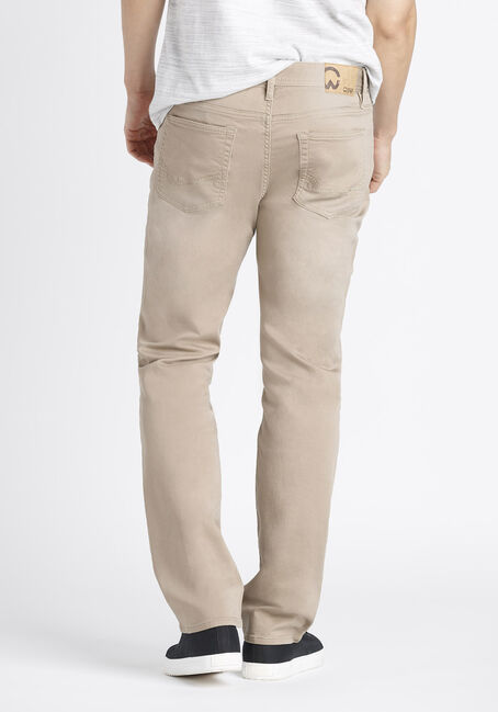 Men's Slim Straight Jeans, KHAKI, hi-res