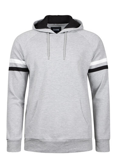 Men's Football Hoodie, HEATHER GREY, hi-res
