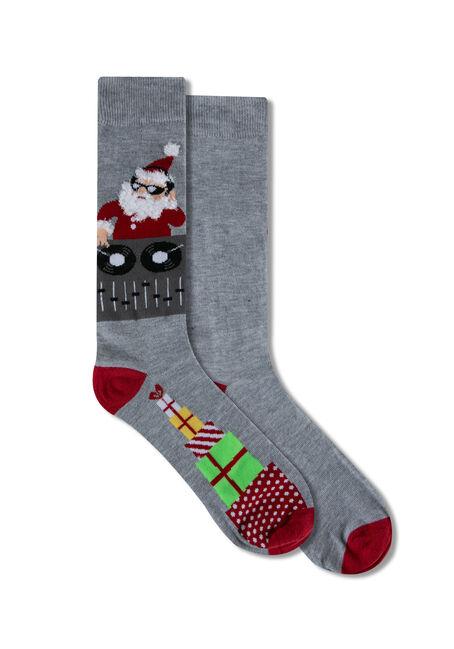 Men's Festive DJ Santa Socks