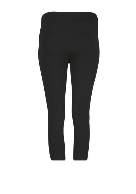 Women's Wide Waistband Capri Legging, BLACK, hi-res
