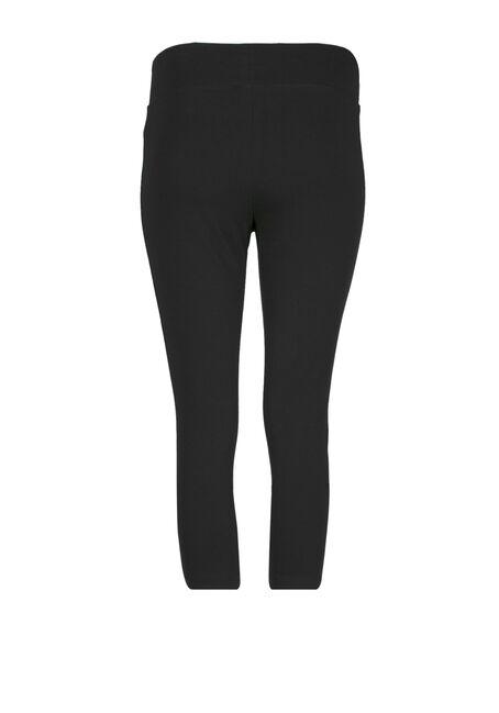 Women's Wide Waistband Capri Legging, BLACK, hi-res