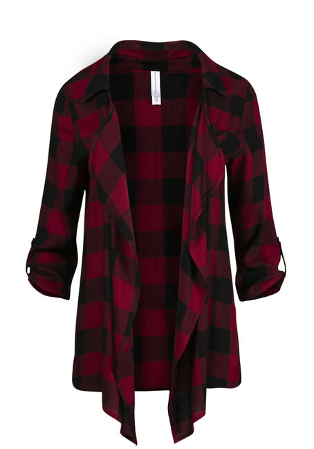 Women's Buffalo Plaid Cardigan