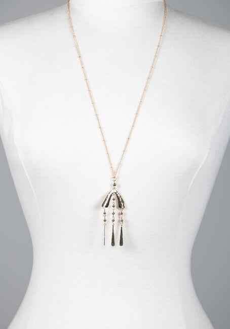 Long Pendant Teardrop Necklace