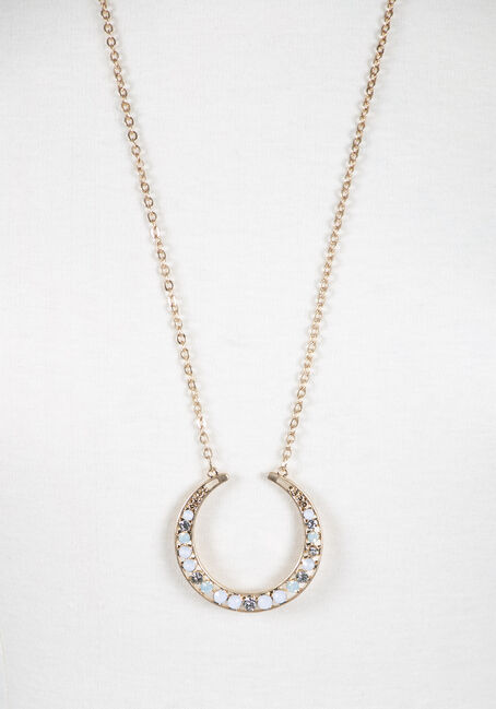 Ladies' Open O Necklace, GOLD, hi-res