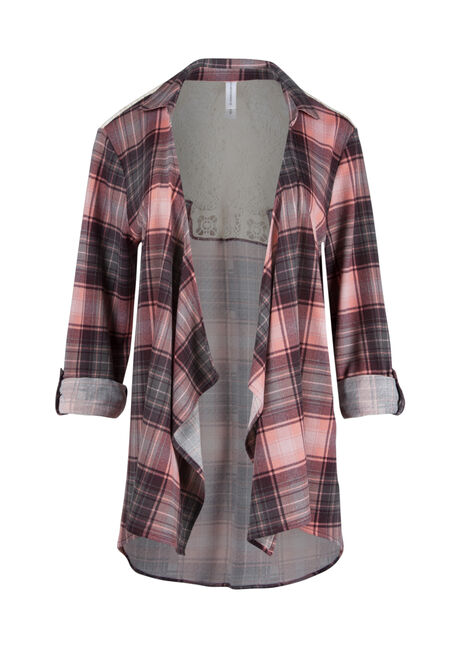 Ladies' Knit Plaid Cardigan