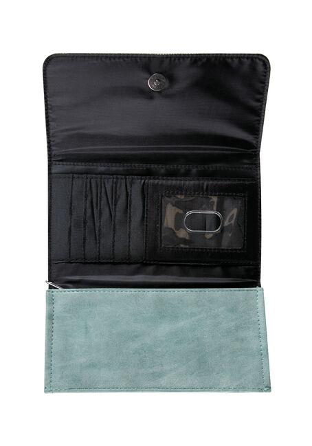 Ladies' Feather Wallet, LIGHT BLUE, hi-res