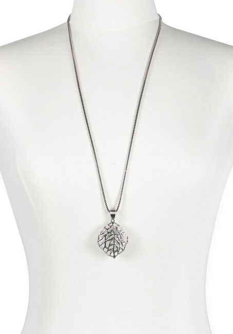 Ladies' Rhinestone Leaf Necklace