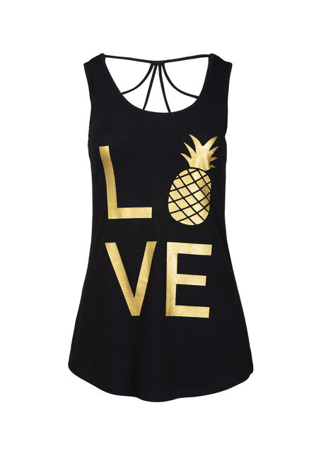 Women's Love Pineapple Cage Back Tank
