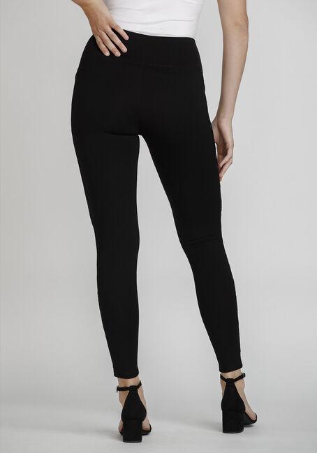 Women's Lace Insert Legging, BLACK, hi-res