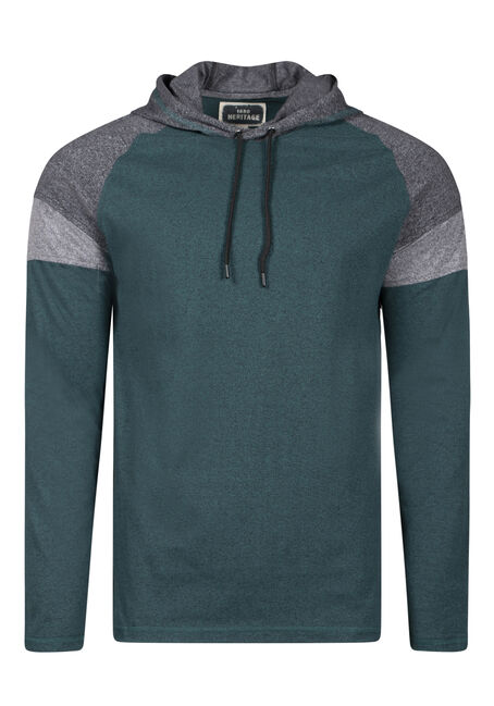Men's Colour Block Hooded Tee