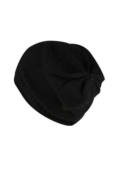Ladies' Slouchy Beanie, BLACK, hi-res