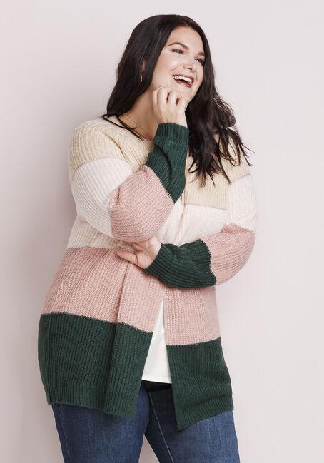 Women's Shimmer Stripe Cardigan, MULTI, hi-res